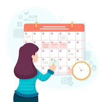 Design de calendário de reserva de compromisso