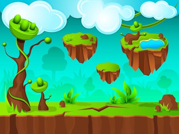 Design de camada de jogo de terra verde