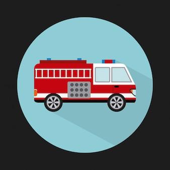 Design de caminhão de bombeiros