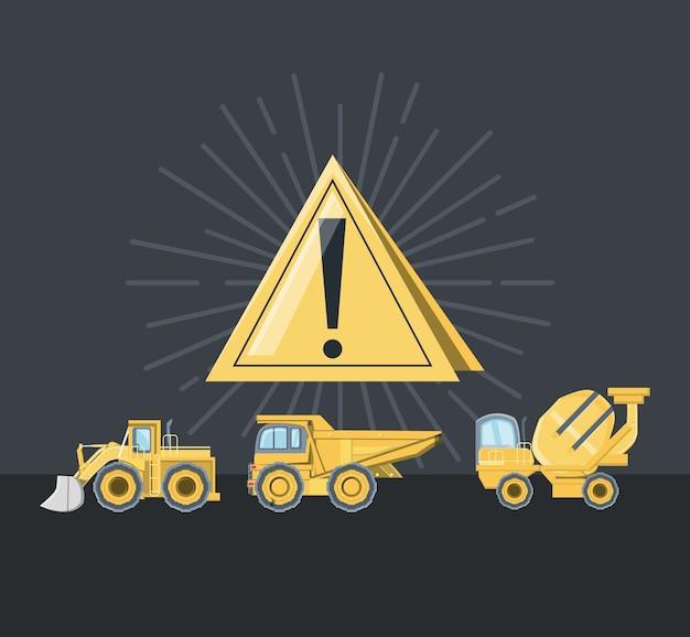 Design de caminhões de construção