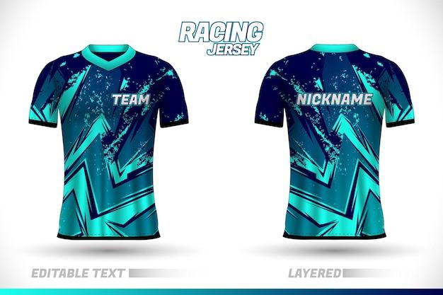 Design de camisa de corrida esportiva modelos de design de camiseta frente e verso