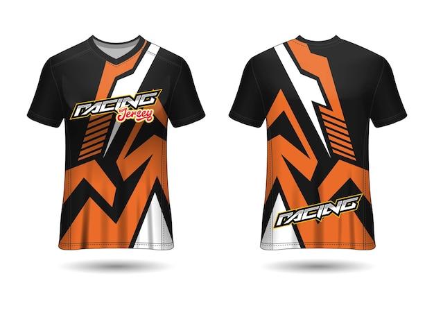 Design de camisa de corrida esportiva