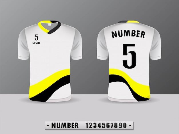 Design de camisa de futebol Vetor Premium