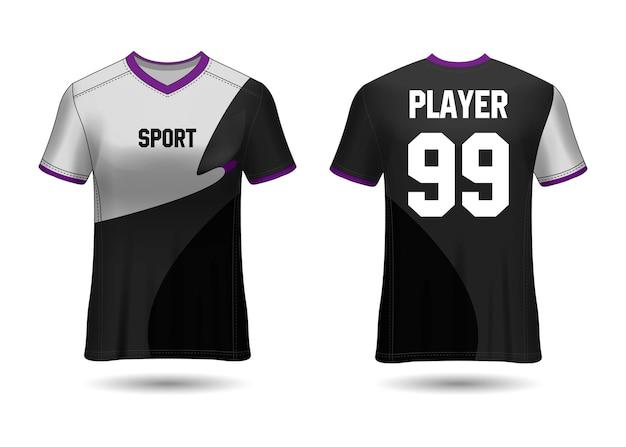 Design de camisa esportiva para uniformes de equipe