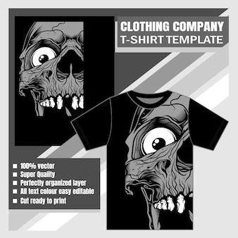 Design de camiseta com caveira