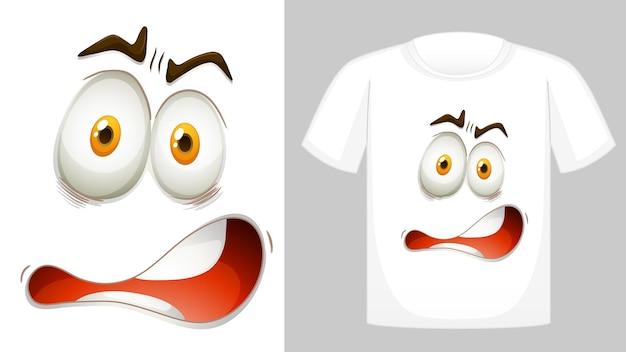 Design de camiseta com gráfico na frente