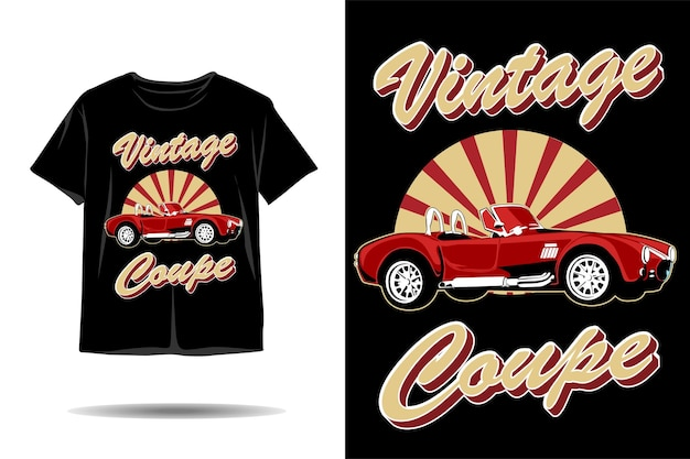 Design de camiseta com ilustração de carro cupê vintage