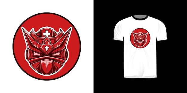 Design de camiseta com ilustração de robô médico
