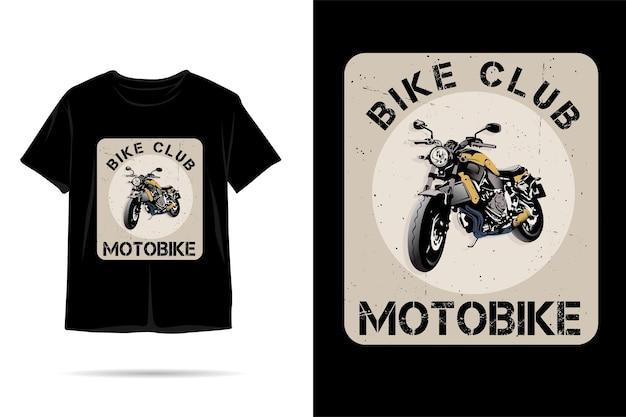 Design de camiseta com silhueta para motobike