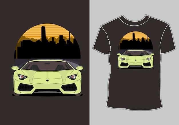 Design de camiseta com tema de carro esportivo moderno, para os amantes de carros esportivos