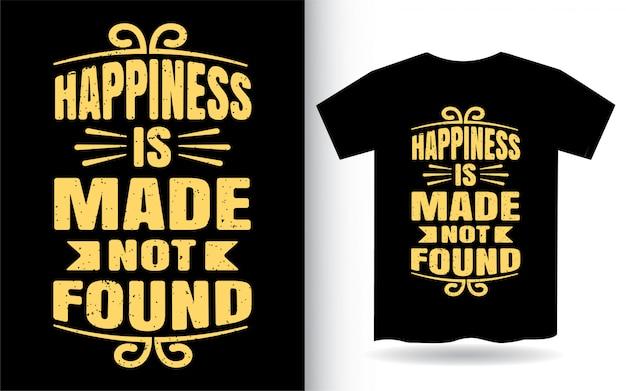 Design de camiseta com tipografia motivacional