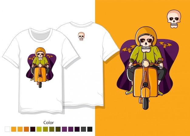 Design de camiseta de caveira