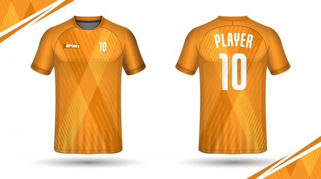 Design de camiseta de esporte de modelo de camisa de futebol