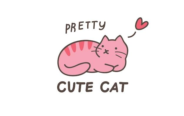 Design de camiseta de gato fofo