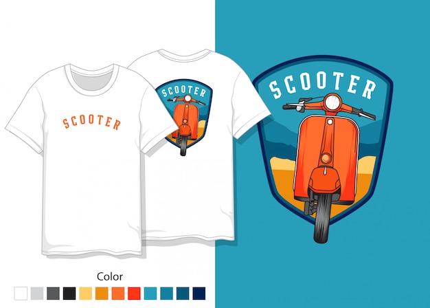 Design de camiseta de scooter