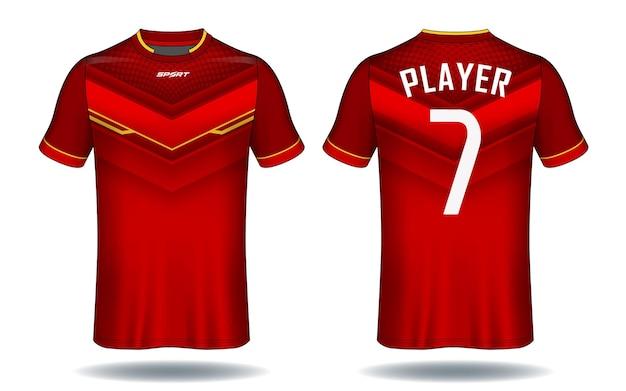 Design de camiseta esporte de camisa de futebol.
