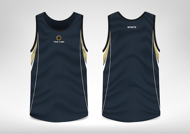 Design de camiseta esportiva sem mangas