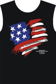 Design de camiseta. feliz dia da independência dos eua 4 de julho.