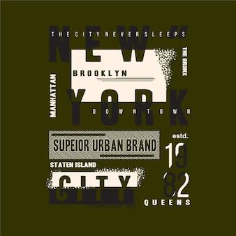 Design de camiseta manchada abstrata de marca urbana superior