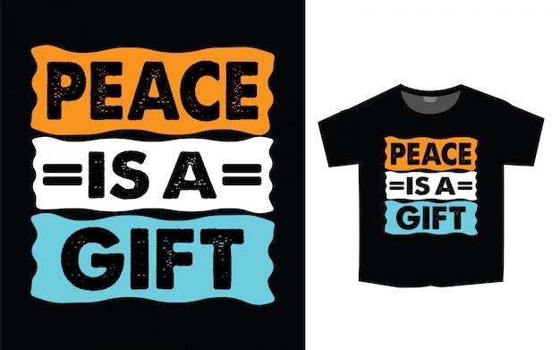 Design de camiseta para impressão com tipografia motivacional