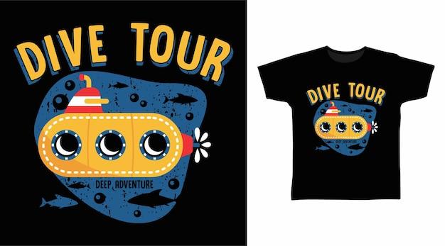 Design de camiseta para mergulho