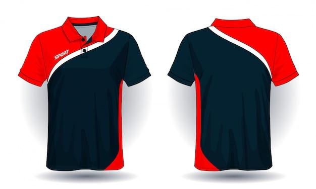 Design de camiseta polo, modelo de camisa de esporte.
