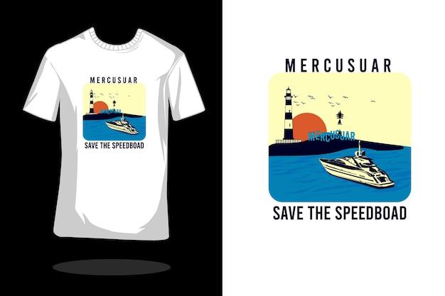 Design de camiseta retrô mercurial save