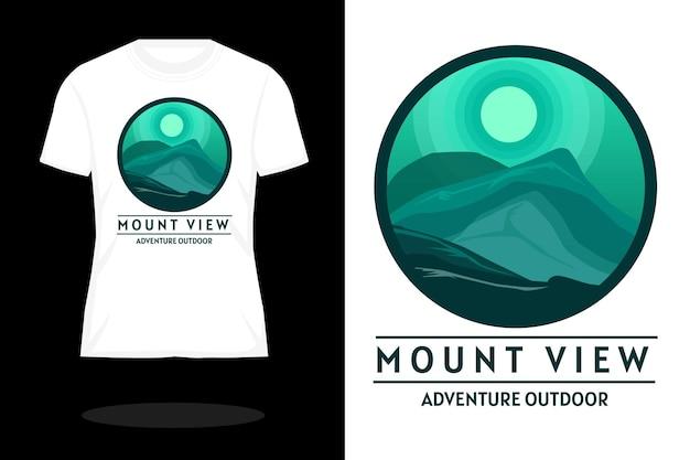 Design de camiseta silhueta com vista para montagem