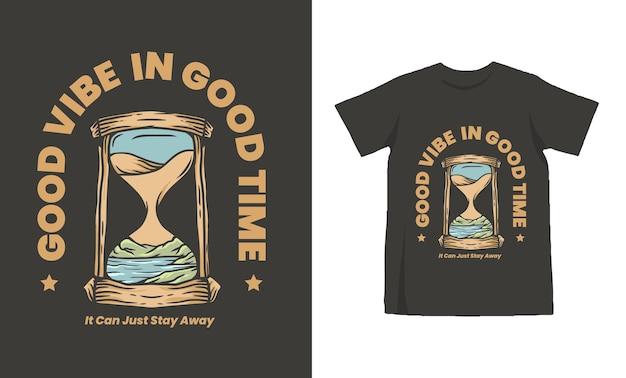 Design de camiseta vintage ampulheta