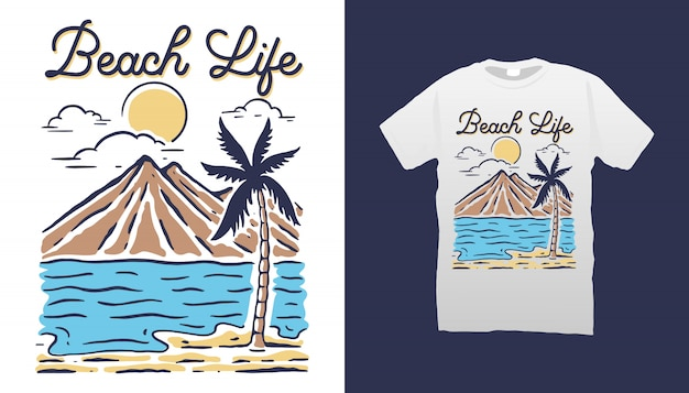 Design de camisetas beach life