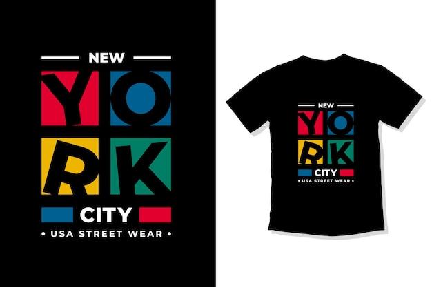 Design de camisetas com letras modernas da cidade de nova york