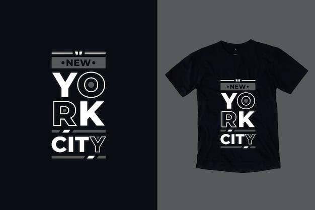 Design de camisetas com letras modernas em nova york