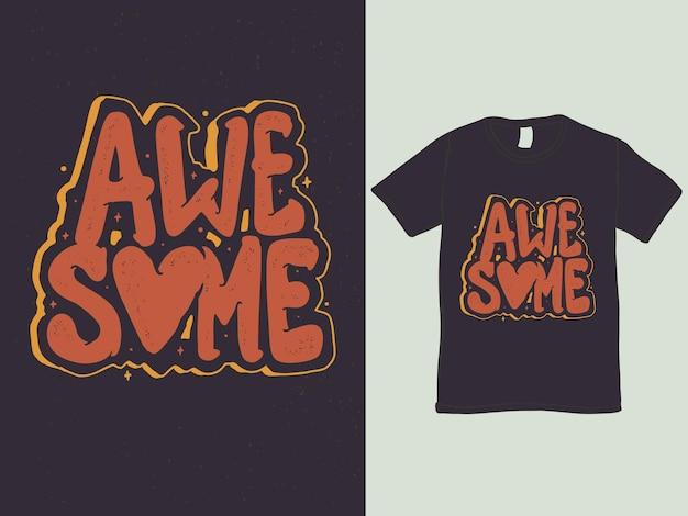 Design de camisetas com palavras incríveis