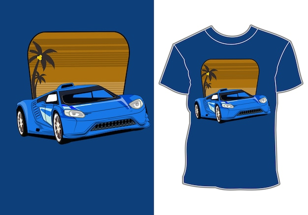 Design de camisetas da indústria automotiva automotiva