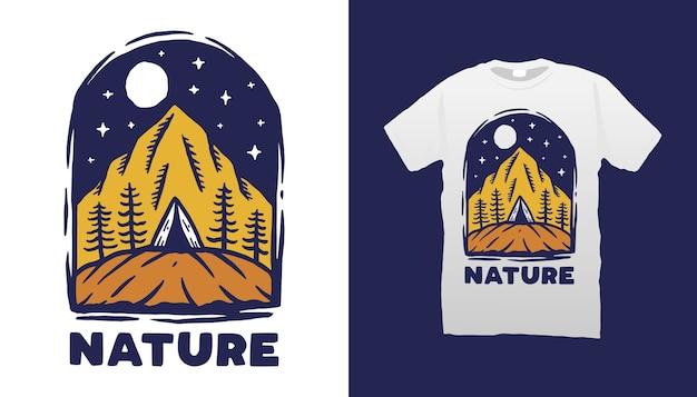 Design de camisetas da natureza