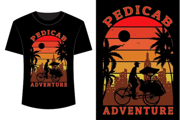 Design de camisetas de aventura para pedicab