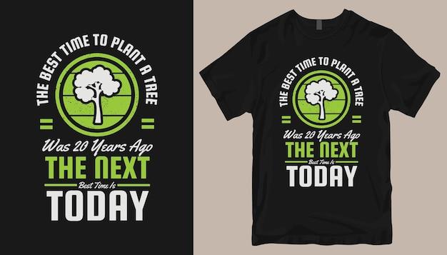 Design de camisetas de jardinagem, slogans de camisetas de agricultura