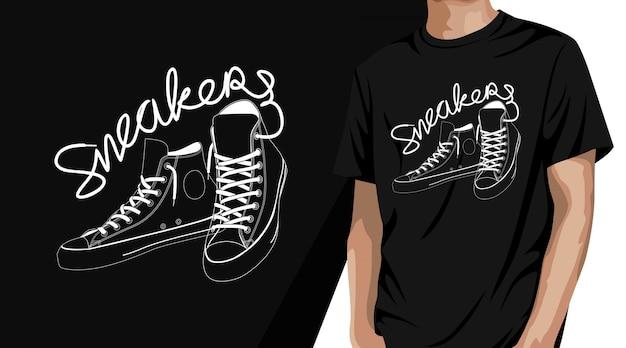 Design de camisetas de tênis