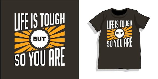 Design de camisetas de tipografia de letras motivacionais