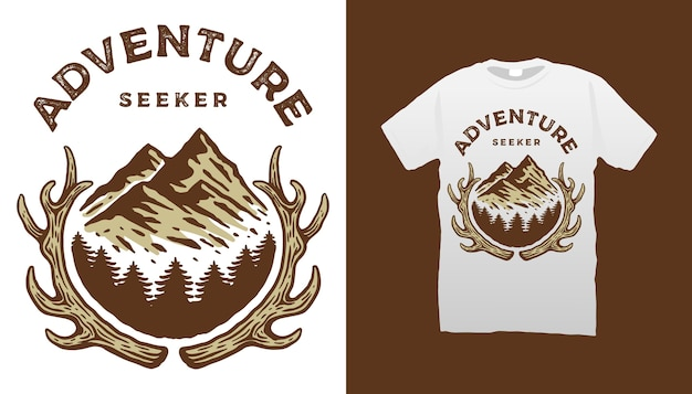 Design de camisetas para aventureiros