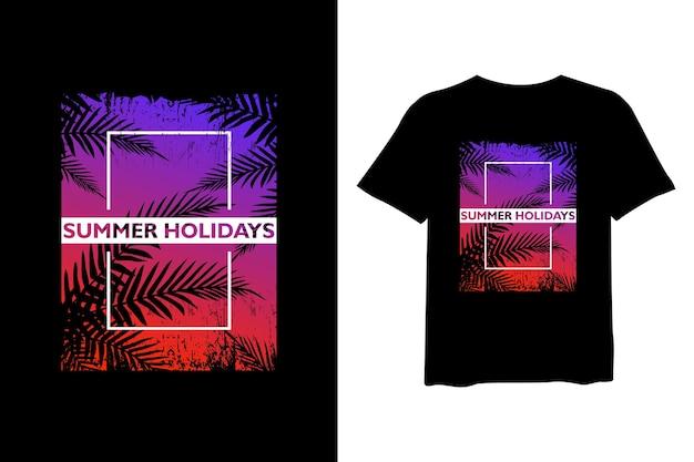 Design de camisetas para férias de verão