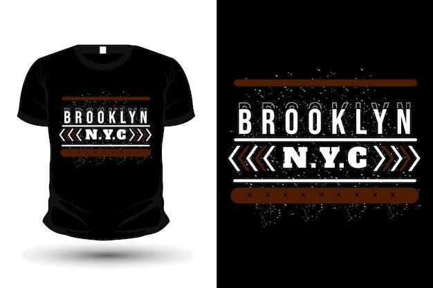 Design de camisetas tipografia de mercadorias brooklyn new york city