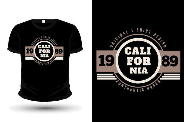 Design de camisetas tipografia de mercadorias de roupas originais da califórnia