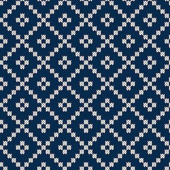 Design de camisola de malha fair isle style. padrão de tricô sem costura. textura de malha