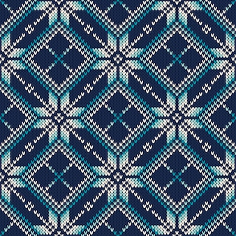 Design de camisola de malha. padrão de tricô sem costura