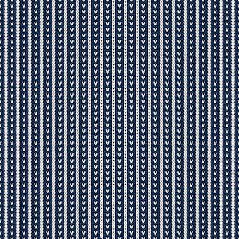 Design de camisola de malha. padrão sem emenda