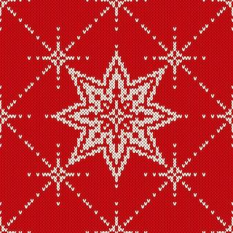 Design de camisola de natal. padrão de malha sem costura com estrelas
