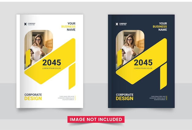 Design de capa de brochura comercial ou relatório anual e perfil da empresa ou modelo de capa de livreto
