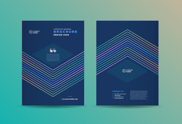 Design de capa de brochura comercial | relatório anual e capa do perfil da empresa | capa de livreto e catálogo