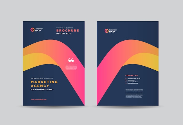 Design de capa de brochura comercial
